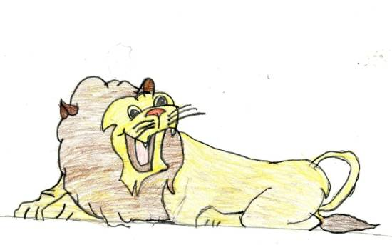 painting by Deeksha Srineet - Roaring Lion