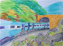 Painting  by Divyam Narula - Train