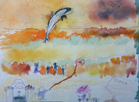 painting by Hamsini Aswin - Beach