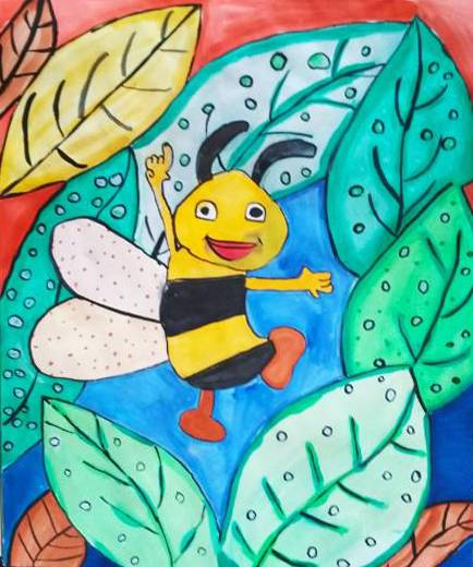 Painting  by Medini Mahesh Padoshi - Honey bee