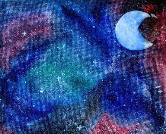 Painting  by Naysha Satyarthi - Galaxy night - 1