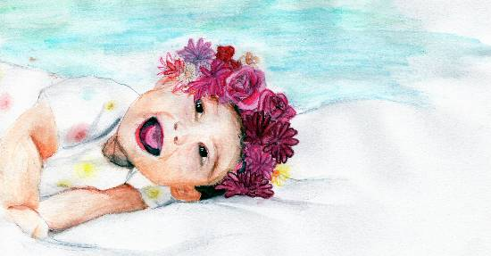 Painting  by Naysha Satyarthi - Happy baby