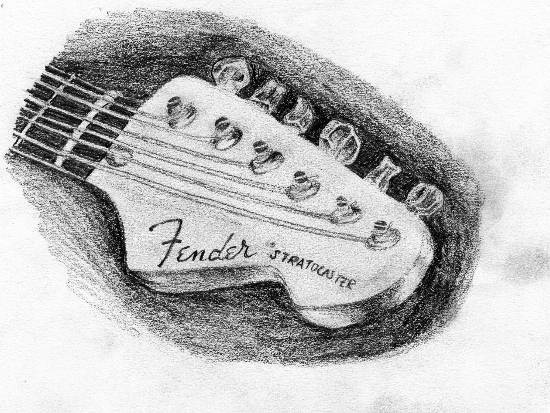 Painting  by Naysha Satyarthi - Guitar