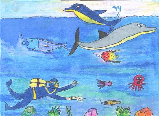 painting by Mrunal Shirish Dalvi - Sea Life