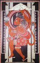 Maruti - the Definition of Dedication, Painting by Abhisek Ghosh