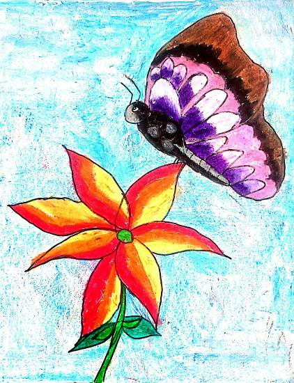 Painting  by Sargun Maini - Butterfly