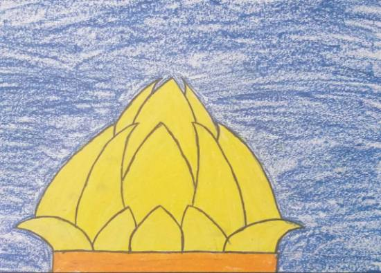 Painting  by Sargun Maini - Lotus Temple