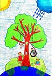 painting by Sargun Maini - Save Trees Save Mother Earth