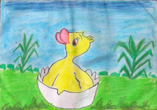 Painting  by Swanandi Ananda Babrekar - Welcome ducky