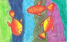 Painting  by Swanandi Ananda Babrekar - Fishes