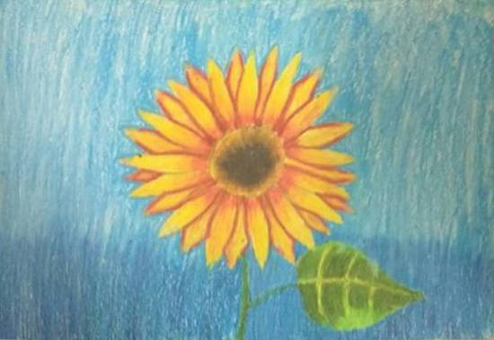 painting by Toshani Mehra - Sunflower