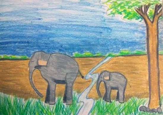 painting by Toshani Mehra - Save nature