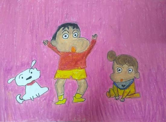 Shinchan, painting by Toshani Mehra