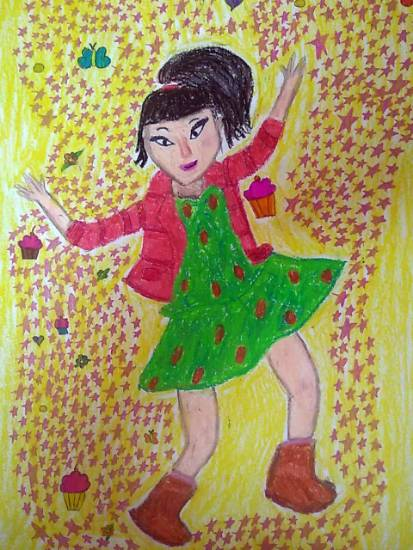 Girl, painting by Toshani Mehra