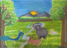 Painting  by Toshani Mehra - Wildlife