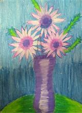Painting  by Toshani Mehra - Flower pot
