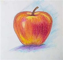 Painting  by Toshani Mehra - An apple a day keeps a doctor away