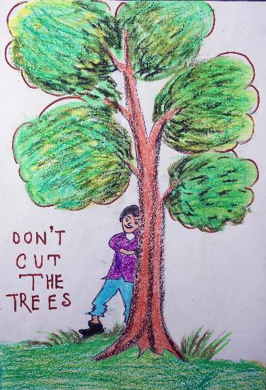 Painting  by Turjnema Khatun - Save Trees