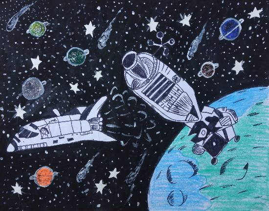 Painting  by Harpreet Kaur - Outer space