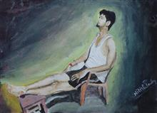 Painting  by Nitish Pandey - Rest