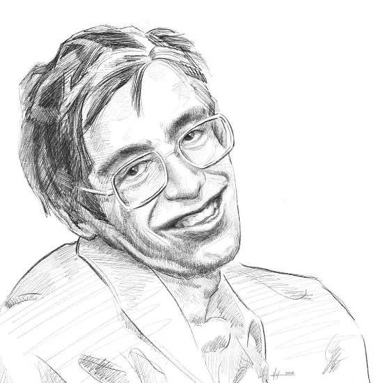 Painting  by Prashant Yadav - In The memory of Stephen Hawking