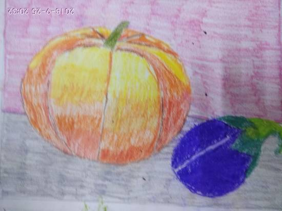Painting  by Navya Harendra Mishra - Vegetables