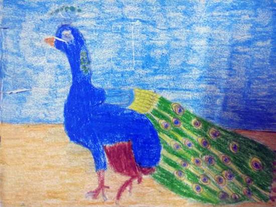 Painting  by Navya Harendra Mishra - Peacock