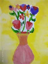 Painting  by Navya Harendra Mishra - Flower Pot