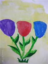 Painting  by Navya Harendra Mishra - Flower Bunch