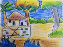 Painting  by Navya Harendra Mishra - Home Scenery