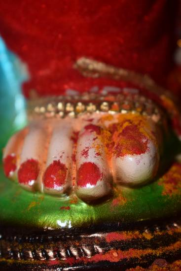 Photograph  by Shivani Shankar Kadam - The Divine Feet of Ganapati Bappa