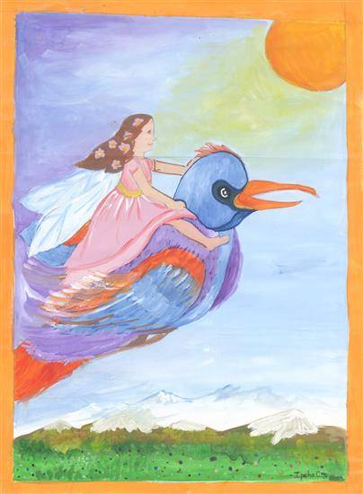 painting by Ipsha Chiragra Chakrabarty - Bird