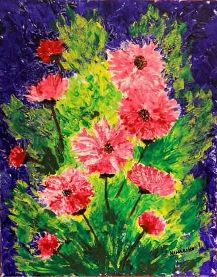 Painting  by Niharika Supratik Ghosh - Flowers