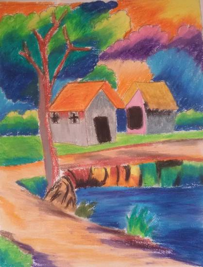 Painting  by Nilesh Harendra Mishra - Houses