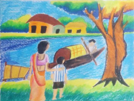 Painting  by Nilesh Harendra Mishra - Boat
