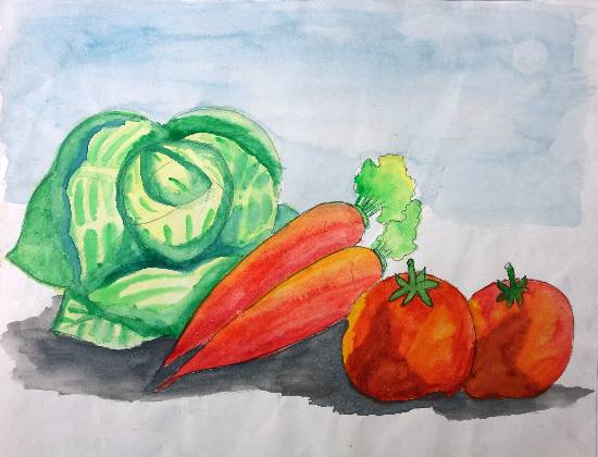 Painting  by Nilesh Harendra Mishra - Vegetables