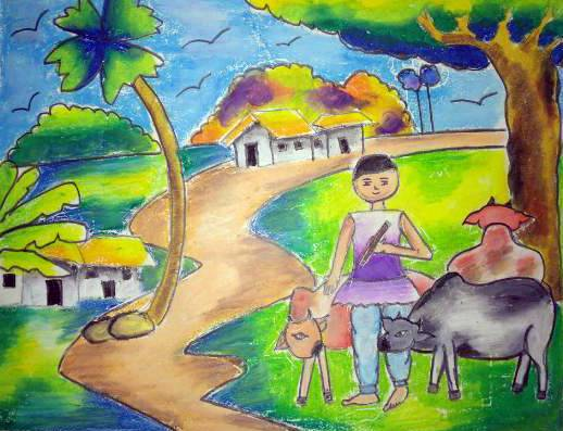 Painting  by Nilesh Harendra Mishra - Town