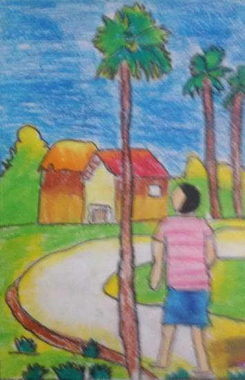 painting by Nilesh Harendra Mishra - Landscape