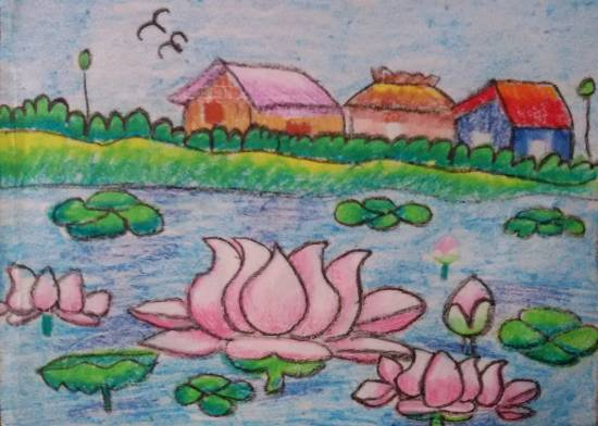 painting by Nilesh Harendra Mishra - Lotuses
