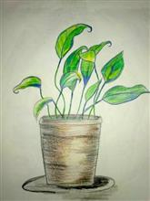 Painting  by Nilesh Harendra Mishra - Plant Tree