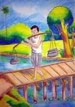 Painting  by Nilesh Harendra Mishra - Water Is Life