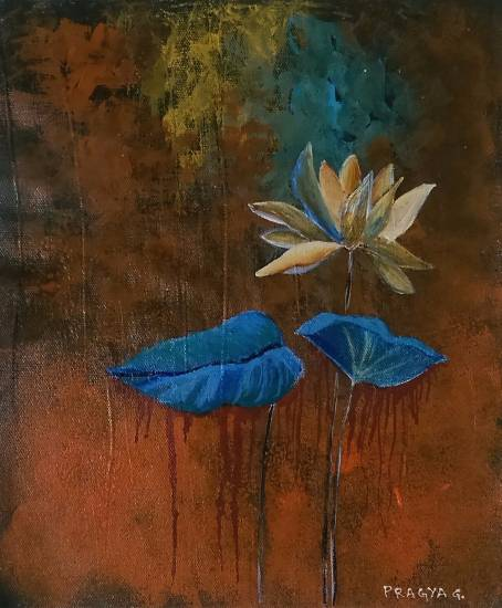 Lotus, painting by Pragya Amber Gupta