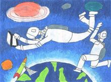 Painting  by Pratham Jignesh Desai - Outer space
