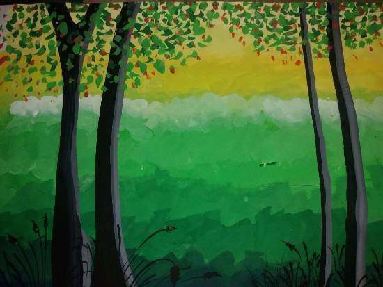 Painting  by Prathmesh Mahesh Bhalerao - Forest - 1