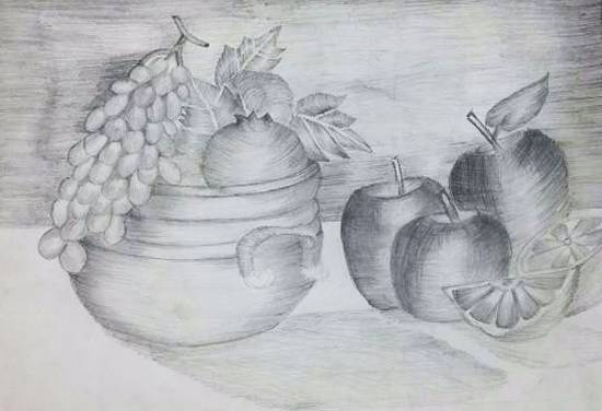 painting by Ritujaa Yogendra Khanolkar - Fruits