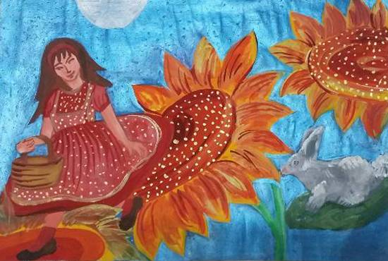 Flower, painting by Ritujaa Yogendra Khanolkar