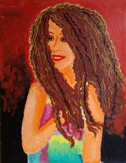painting by Rucha Vishwesh Damle - Girl