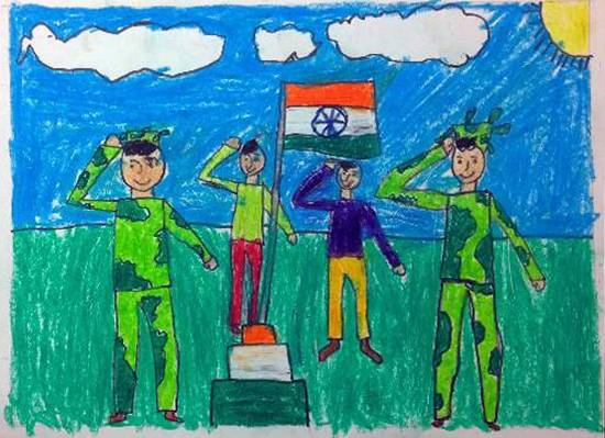 Republic day, painting by Rudra Adhish Goray