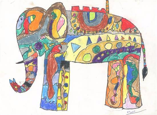 painting by Rudra Adhish Goray - Elephant