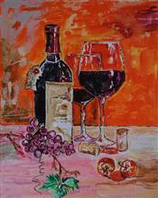 Table for Two, Painting by Rakhi Chatterjee